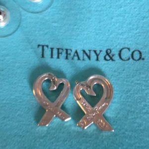 Tiffany Paloma Picasso Loving Heart Earrings